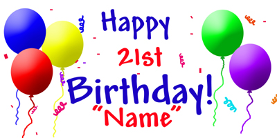 birthday banners personalized with photo arts arts