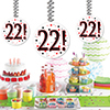 22! DANGLER DECORATION 3/PKG PARTY SUPPLIES