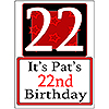 PERSONALIZED 22 YEAR OLD YARD SIGN PARTY SUPPLIES