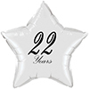 22 YEARS CLASSY BLACK STAR BALLOON PARTY SUPPLIES