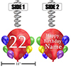 22ND BALLOON BLAST JUMBO CUSTOM DANGLER PARTY SUPPLIES