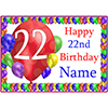 22ND BALLOON BLAST CUSTOMIZED PLACEMAT PARTY SUPPLIES