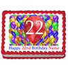 22ND BIRTHDAY BALLOON BLAST EDIBLE IMAGE PARTY SUPPLIES