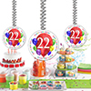 22ND BIRTHDAY BALLOON BLAST DANGLER PARTY SUPPLIES