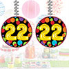 22ND BIRTHDAY BALLOON DANGLER PARTY SUPPLIES