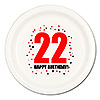 22ND BIRTHDAY DINNER PLATE 8-PKG PARTY SUPPLIES