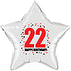 22ND BIRTHDAY STAR BALLOON PARTY SUPPLIES
