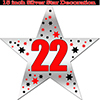 22ND SILVER STAR DECORATION PARTY SUPPLIES