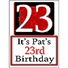 PERSONALIZED 23 YEAR OLD YARD SIGN PARTY SUPPLIES