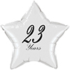 23 YEARS CLASSY BLACK STAR BALLOON PARTY SUPPLIES