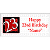 PERSONALIZED  23 YEAR OLD BANNER PARTY SUPPLIES