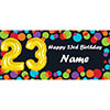 BALLOON 23RD BIRTHDAY CUSTOMIZED BANNER PARTY SUPPLIES