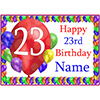 23RD BALLOON BLAST CUSTOMIZED PLACEMAT PARTY SUPPLIES
