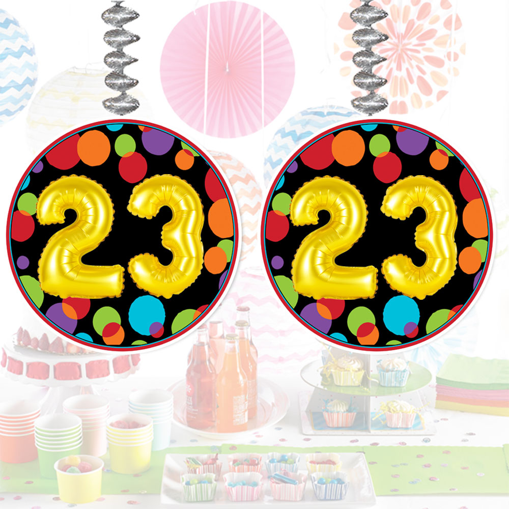 Click For Larger Picture Of 23RD BIRTHDAY BALLOON DANGLER PARTY SUPPLIES