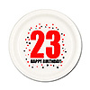 23RD BIRTHDAY DESSERT PLATE 8-PKG PARTY SUPPLIES