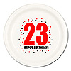 23RD BIRTHDAY DINNER PLATE 8-PKG PARTY SUPPLIES