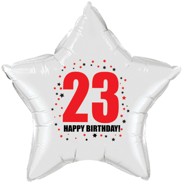 Click For Larger Picture Of 23RD BIRTHDAY STAR BALLOON PARTY SUPPLIES