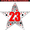 23RD SILVER STAR DECORATION PARTY SUPPLIES