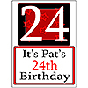 PERSONALIZED 24 YEAR OLD YARD SIGN PARTY SUPPLIES
