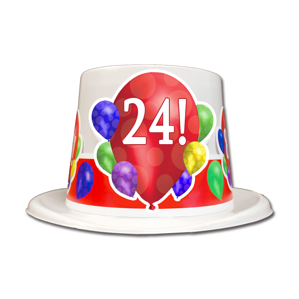 Click For Larger Picture Of 24TH BIRTHDAY BALLOON BLAST TOP HAT PARTY SUPPLIES
