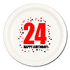 24TH BIRTHDAY DINNER PLATE 8-PKG PARTY SUPPLIES