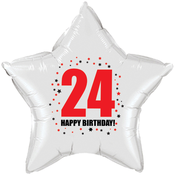 Click For Larger Picture Of 24TH BIRTHDAY STAR BALLOON PARTY SUPPLIES