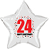 24TH BIRTHDAY STAR BALLOON PARTY SUPPLIES