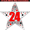 24TH SILVER STAR DECORATION PARTY SUPPLIES