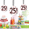 25! DANGLER DECORATION 3/PKG PARTY SUPPLIES