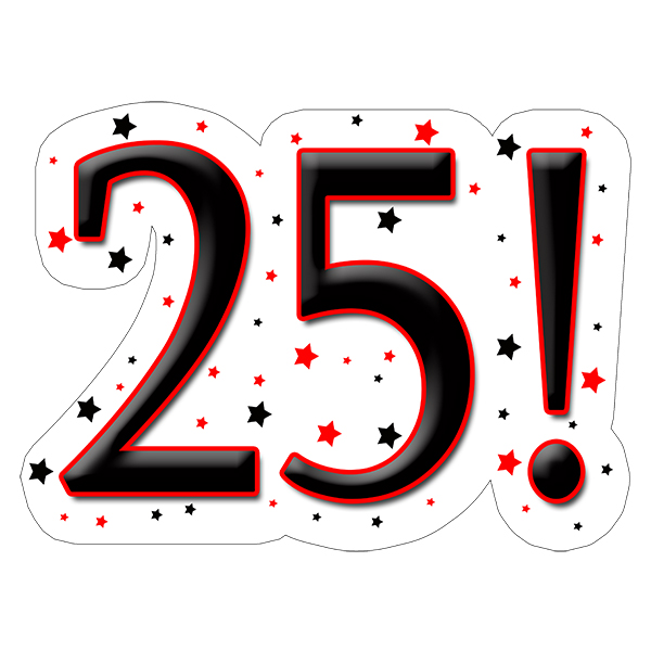 25! DECORATION (15X22 IN.) PARTY SUPPLIES