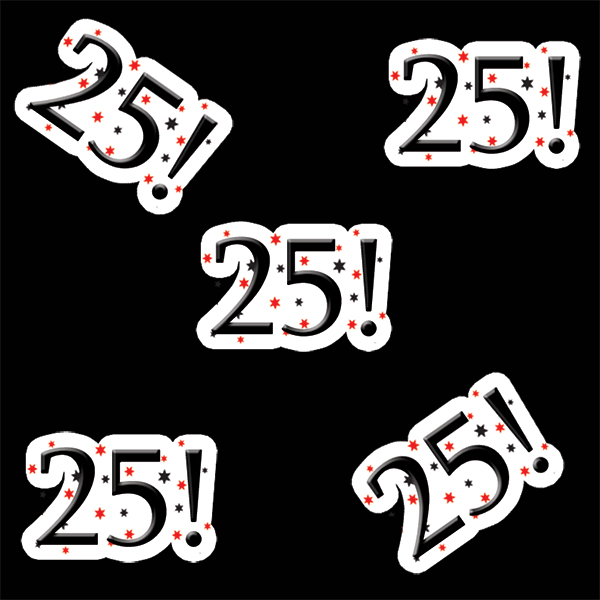 25! BIRTHDAY DECO FETTI PARTY SUPPLIES