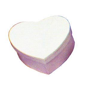 Click for larger picture of HEART BOX WHITE PARTY SUPPLIES