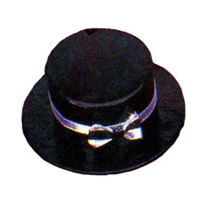 Click for larger picture of BLACK TOP HAT BOX PARTY SUPPLIES