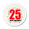 25TH BIRTHDAY DESSERT PLATE 8-PKG PARTY SUPPLIES