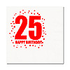 25TH BIRTHDAY LUNCHEON NAPKIN 16-PKG PARTY SUPPLIES