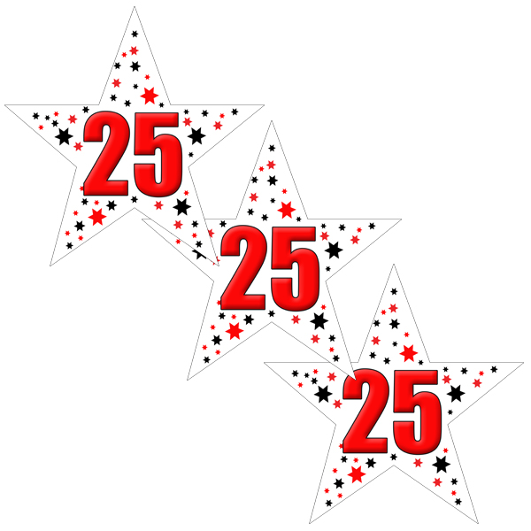 25TH BIRTHDAY STAR DECO FETTI PARTY SUPPLIES