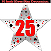 25TH SILVER STAR DECORATION PARTY SUPPLIES