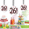 26! DANGLER DECORATION 3/PKG PARTY SUPPLIES