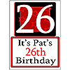 PERSONALIZED 26 YEAR OLD YARD SIGN PARTY SUPPLIES