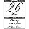 26 YEARS CLASSY BLACK DOOR BANNER PARTY SUPPLIES