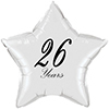 26 YEARS CLASSY BLACK STAR BALLOON PARTY SUPPLIES