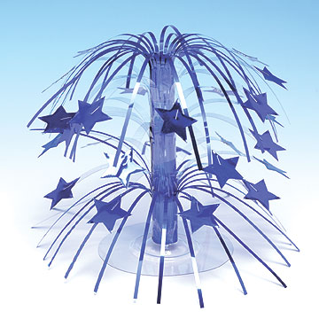 Click for larger picture of BLUE STAR CASCADE CENTERPIECE MINI(6/CS) PARTY SUPPLIES