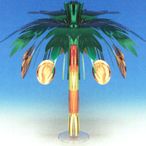 MINI COCONUT FOIL CENTERPIECE (6/CASE) PARTY SUPPLIES