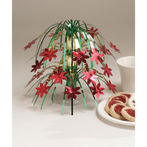 DISCONTINUED POINSETTIA CENTERPIECE PARTY SUPPLIES
