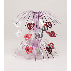 DISCONTINUED HEARTS CASCADE CENTERPIECE PARTY SUPPLIES