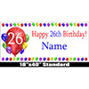26TH BIRTHDAY BALLOON BLAST NAME BANNER PARTY SUPPLIES