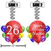 26TH BALLOON BLAST JUMBO CUSTOM DANGLER PARTY SUPPLIES