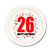 26TH BIRTHDAY DESSERT PLATE 8-PKG PARTY SUPPLIES