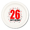 26TH BIRTHDAY DINNER PLATE 8-PKG PARTY SUPPLIES