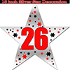 26TH SILVER STAR DECORATION PARTY SUPPLIES